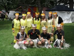 Sajojo dancers at Queanbeyan Festival, 20 February 2012