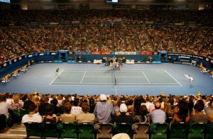 Suasana final Australian Open 2011, Novak Djokovic vs. Andy Murray